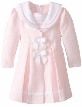 Bonnie Jean Little Girls Houndstooth Coat Set CLEARANCE