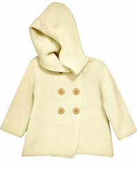 Bonnie Jean Little Girls Ivory Cotton Cardigan Sweater Coat