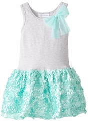 Bonnie Jean Little Girls Mint Bonaz Dress