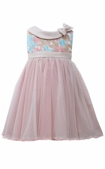Bonnie Jean Little Girls Multi Color Rose Dress
