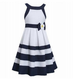 Bonnie Jean Little Girls Navy Daisy Dress - SOLD OUT