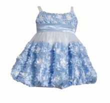 Bonnie Jean Little Girls Periwinkle Bonaz Bubble Dress