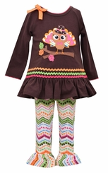 Bonnie Jean Little Girls Pilgrim Turkey Tunic Legging Set