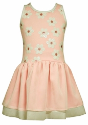 Bonnie Jean Little Girls Pink Sequined Daisies Dress