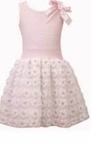 Bonnie Jean Little Girls Pink Stripe Flower Skirt Special Occasion Dress