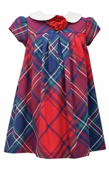 Bonnie Jean Little Girls Plaid Float Dress