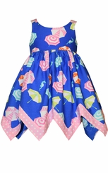 Bonnie Jean Little Girls Royal Beach Umbrella Sundress