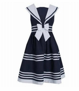 Bonnie Jean Little Girls Sailor Dress Sleeveless