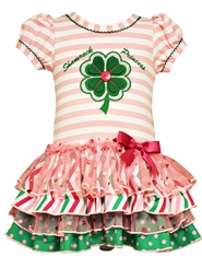 Bonnie Jean Little Girls Shamrock Princess St Patrick's Dress