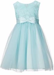 Bonnie Jean Little Girls Spangled Embroidered Tulle-Overlay Skirt Dress