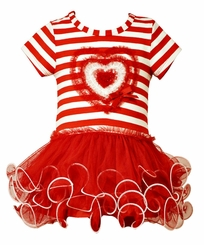 Bonnie Jean Little Girls Valentine's Day Tutu Dress