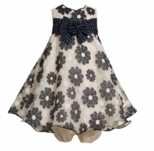 Bonnie Jean - NAVY DAISY DRESS  24 month