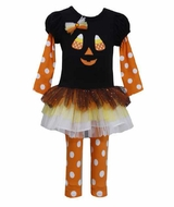 Bonnie Jean New Black Candy Corn Tutu Set