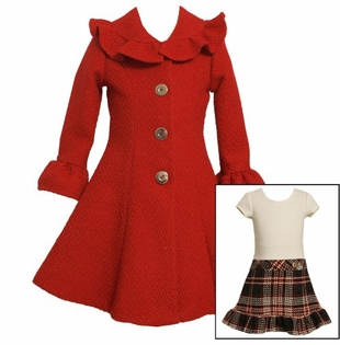 Bonnie Jean Red Coat Dress CLEARANCE