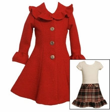 Bonnie Jean Red Coat Dress CLEARANCE  SIZE 10 LAST ONE