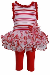 Little Girls Valentine's Day Tutu Legging Set