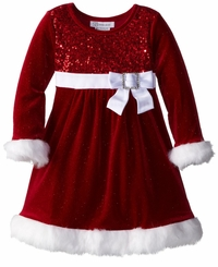 Bonnie Jean Baby Girls Christmas Dress Red Sequined  - sold out
