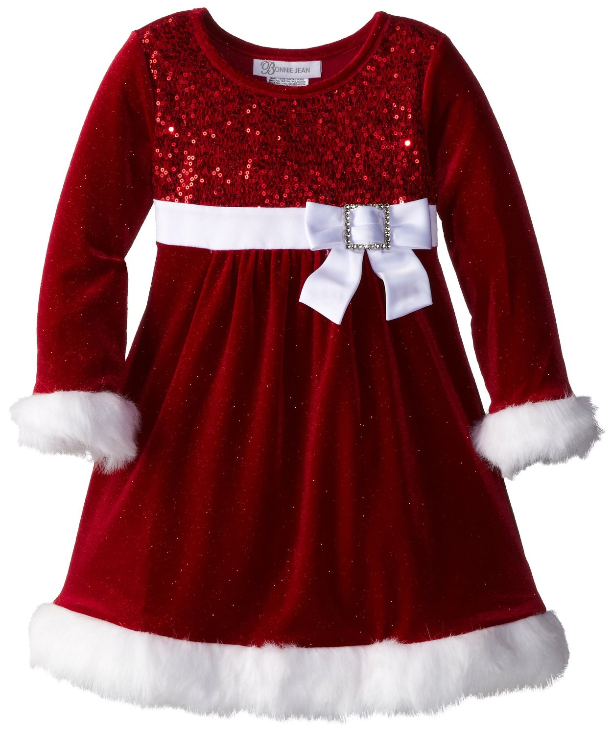 Bonnie Jean Baby Girls Christmas Dress Red Sequined Sold Out