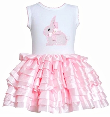 Bonnie Jean Sleeveless Bunny Applique Pink Eyelash Tutu Dress - SOLD OUT