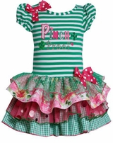 Bonnie Jean Stripe Green Pinch Proof St. Patrick's Dress