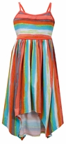 Bonnie Jean Stripe Hi-Low Hanky Maxi Dress