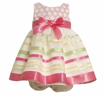 Bonnie Jean Summer Dress - Pink Ribbon Stripes  SOLD OUT