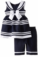 Bonnie Jean Little Girls Nautical Capri Set