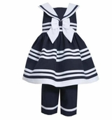 Bonnie Jean Toddler Girls Nautical Capri Set