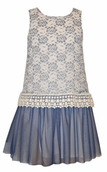 Bonnie Jean Tween Girls Lace and Venise Trim Dress