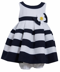 Bonnie Jeans Baby Girls Nautical Banding Dress - SOLD OUT
