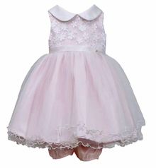Bonnnie Jean Newborn or Toddler Pink Sequin Party Dress SALE