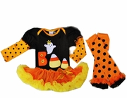 Boo Tutu Onesie Set with Legwarmers