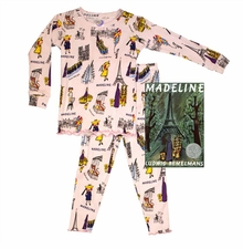 Books to Bed - Little Girl's Madeline Book & PJ Set