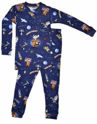 Books to Bed Mousetronaut Little Boys Astronaut Pajamas with Book