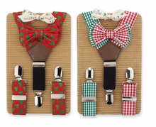 Boy's Holiday Set: Mud Pie Holiday Suspender, Bow Tie Set - SOLD OUT