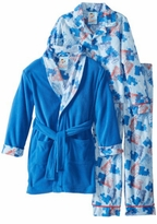Boy's Pajamas - Train PJ & Blue Robe Set
