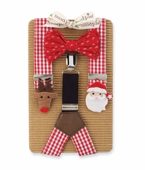 Boy's Christmas Bowtie & Suspender Set - SOLD OUT