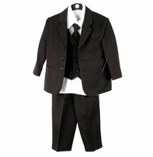 Boys Black Suit  - 3 Button Suit for Boys - SOLD OUT