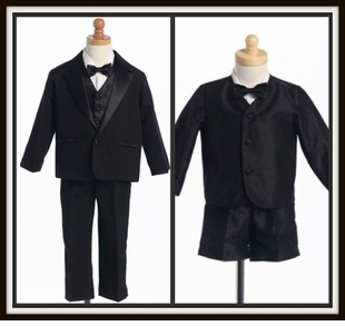 Boys Black Suits and Tuxedos