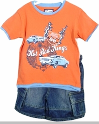 Boys Denim Short Set - INFANT - Final Sale