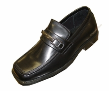 Boys Dress Shoes Black with Buckle - Boys Size 3 -3.5 CLEARANCE