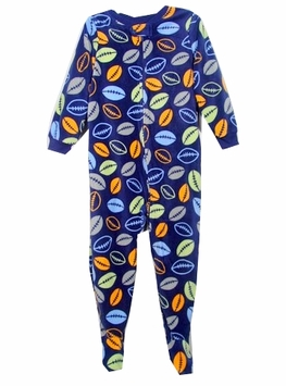 Boys Footed Pajamas - Football Size 2T - 4