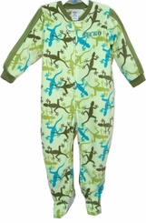 Boys Footed TODDLER Pajamas Green Gecko