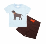 Boys Infant or Toddler Short Set Black Lab