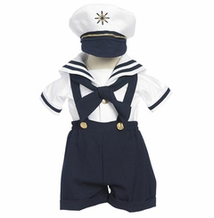 Boys Navy 4 pc. Sailor Suit with Hat  - SOLD OUT