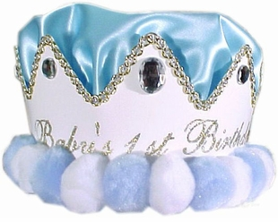 Boys Party Hat - First Birthday Boy Crown  SOLD OUT