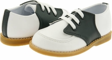 Boys Saddle Shoes - Navy / White Leather Shoes
