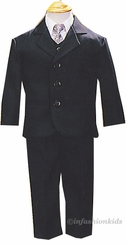 Boys Suits - Black Suit - 5 Pc Set