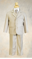 Boys Suits - Khaki Suit for Boys - 5 pc Suit Set