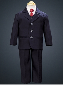 Boys Suits - Navy Suit 5 Pc Set